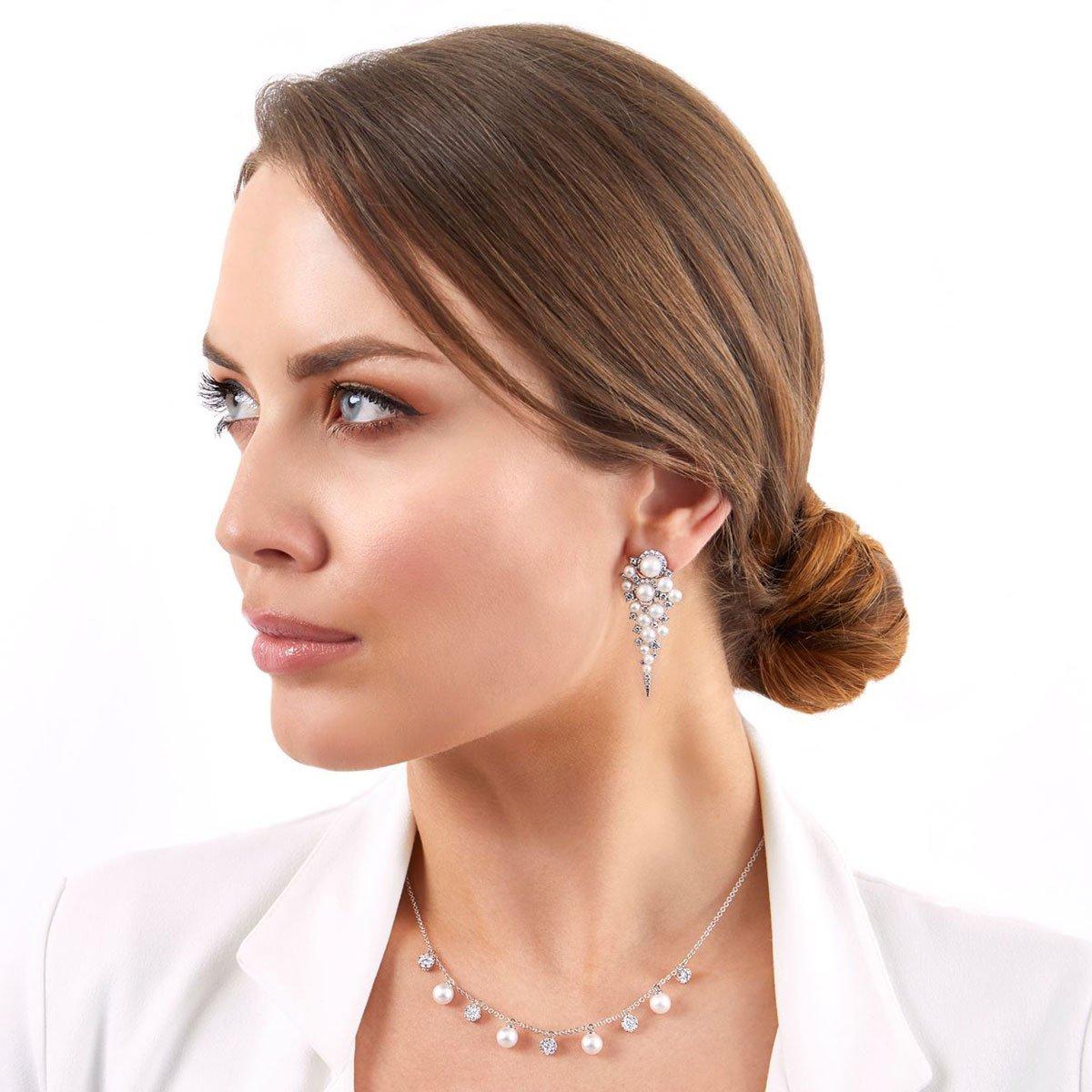 0001706 raindrop akoya pearl and diamond earrings in 18ct white gold
