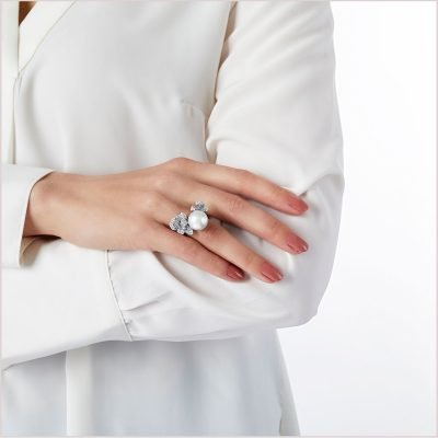 """<span id=""""product-title"""">PETAL </span><br><span id=""""product-description"""">SOUTH SEA PEARL AND DIAMOND RING IN 18CT WHITE GOLD</span>"""