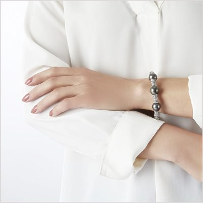 Yoko London Twilight Diamond and Tahitian Pearl Bracelet