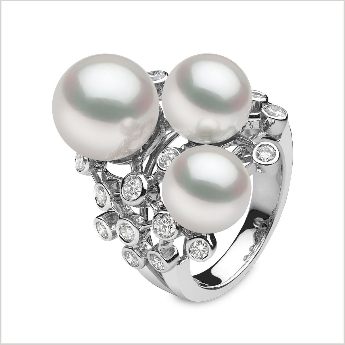Q1163RING JZ w white pearls