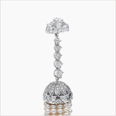 """<span id=""""product-title"""">TASSEL </span><br><span id=""""product-description"""">FRESHWATER PEARL AND DIAMOND EARRINGS IN 18CT WHITE GOLD</span>"""