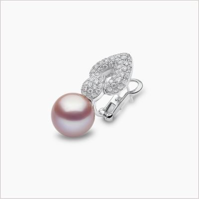 Yoko London Ombré Freshwater Pearl and Diamond Earrings