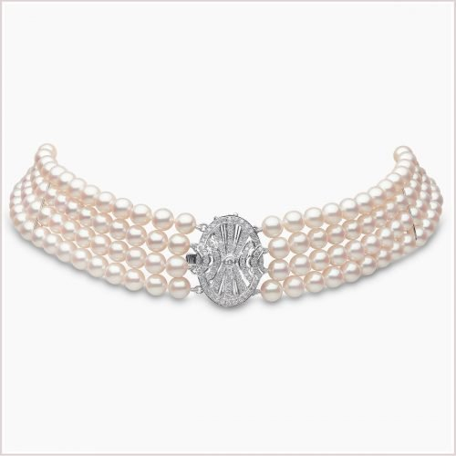 Yoko London Classic Akoya Pearl & Diamond Choker