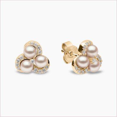 Yoko London Sleek Akoya Pearl and Diamond Earrings Yoko London Sleek Akoya Pearl and Diamond Earrings