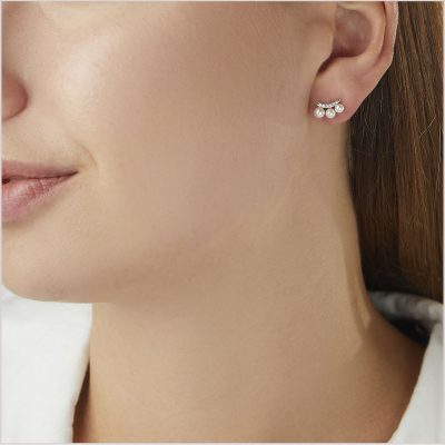 """<span id=""""product-title"""">SLEEK </span><br><span id=""""product-description"""">AKOYA PEARL AND DIAMOND STUD EARRINGS IN 18CT WHITE GOLD</span>"""