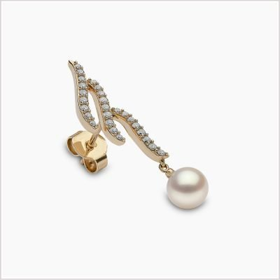 """<span id=""""product-title"""">SLEEK </span><br><span id=""""product-description"""">AKOYA PEARL AND DIAMOND EARRINGS IN 18CT YELLOW GOLD</span>"""