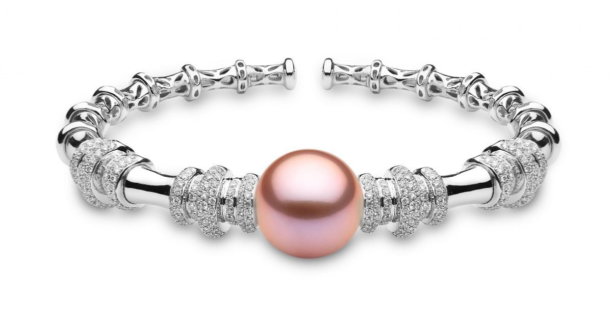 """<span id=""""product-title"""">RADIANT ORCHID </span><br><span id=""""product-description"""">FRESHWATER PEARL AND DIAMOND BRACELET IN 18CT WHITE GOLD</span>"""