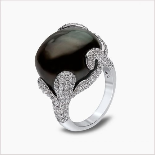 Yoko London Twilight Diamond and Tahitian Pearl Ring