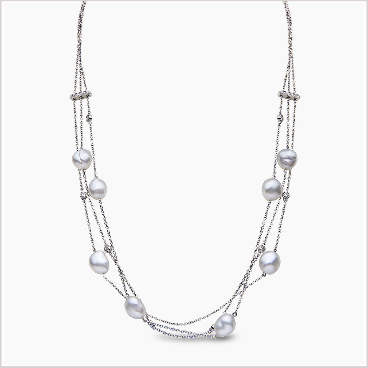 """<span id=""""product-title"""">BAROQUE </span><br><span id=""""product-description"""">SOUTH SEA PEARL AND DIAMOND NECKLACE IN 18CT WHITE GOLD</span>"""