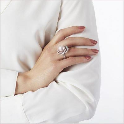 """<span id=""""product-title"""">RADIANT ORCHID </span><br><span id=""""product-description"""">FRESHWATER PEARL AND DIAMOND RING IN 18CT WHITE GOLD</span>"""