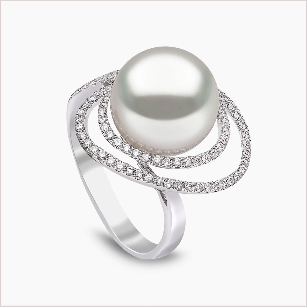 Yoko London South Sea Pearl and Diamond Ring