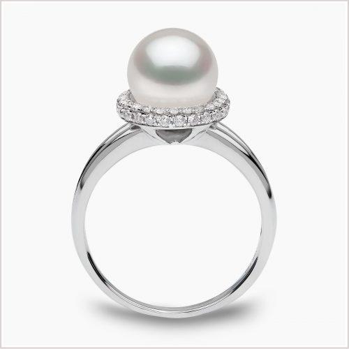 Yoko London Classic Diamond and Akoya Pearl Ring