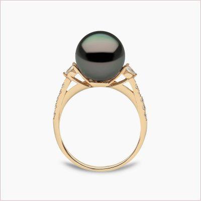Yoko London Classic Diamond and Tahitian Pearl Ring
