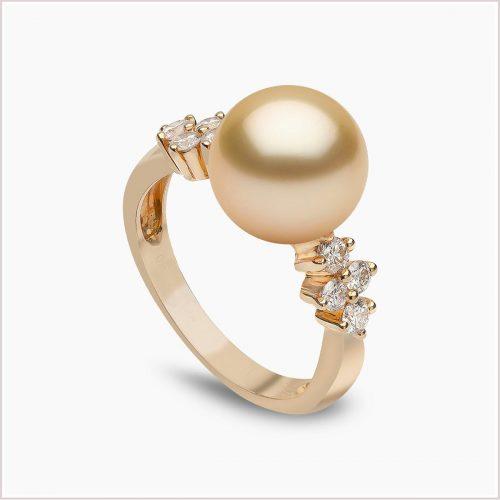 Yoko London Classic Golden South Sea Pearl and Diamond Ring