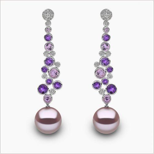 Yoko London Kaleidoscope Sapphire, Diamond and FreshwaterPearl Earrings