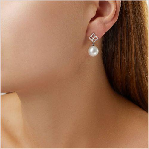 Yoko London Classic South Sea Pearl and Diamond Earrings