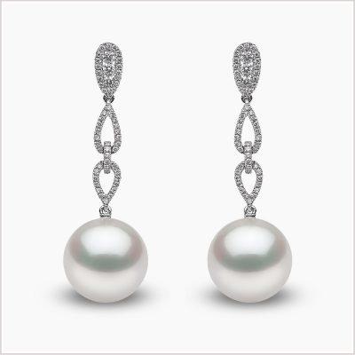 Yoko London South Sea Pearl and Diamond Earrings