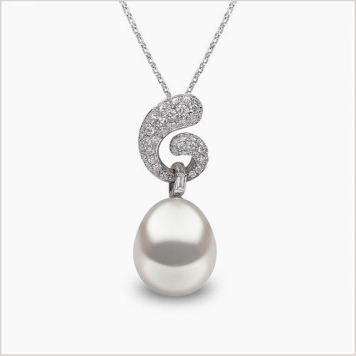 Yoko London Novus Diamond and South Sea Pearl Pendant