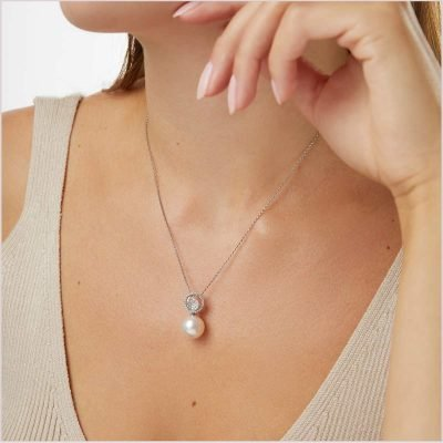 """<span id=""""product-title"""">CLASSIC </span><br><span id=""""product-description"""">SOUTH SEA PEARL AND DIAMOND PENDANT IN 18CT WHITE GOLD</span>"""