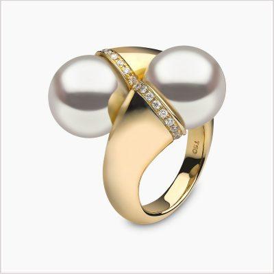 Yoko London Aurelia South Sea Pearl and Diamond Ring