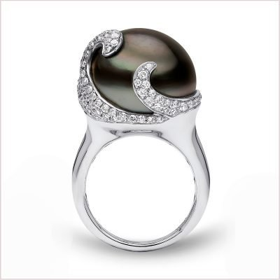 """<span id=""""product-title"""">TWILIGHT </span><br><span id=""""product-description"""">TAHITIAN PEARL AND DIAMOND RING IN 18CT WHITE GOLD</span>"""