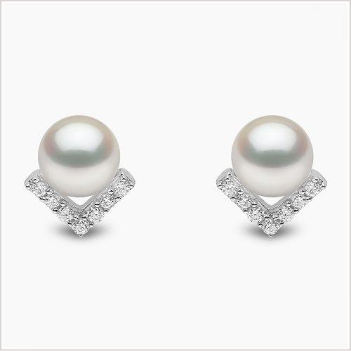 Yoko London Trend Freshwater Pearl and Diamond Earrings